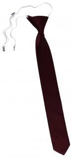 TigerTie Sicherheits Krawatte in bordeaux rot weinrot einfarbig Uni Rips