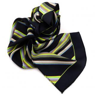 Damen Seidenschal schwarz grün blau beige gestreift 160 x 35 - Halstuch Schal