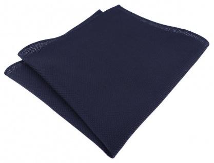 TigerTie Einstecktuch 100% Baumwolle - Pique in marine gemustert - 30 x 30 cm