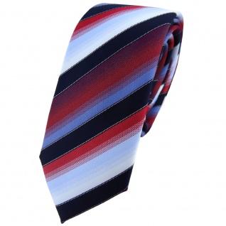 schmale TigerTie Krawatte in rot bordeaux blau hellblau marine gestreift