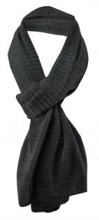 Damen Satin Schal Halstuch schwarz anthrazit gemustert Gr. 155 cm x 55 cm - Tuch