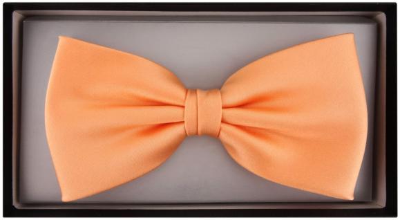 vorgebundene TigerTie Satin Fliege lachs orange Uni einfarbig + Geschenkbox - Vorschau 2