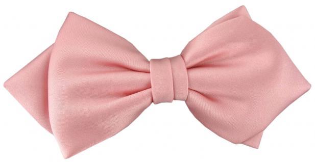 vorgebundene TigerTie Spitzfliege Schleife in rosa Einfarbig + Geschenkbox