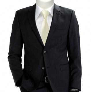 XXL TigerTie Security Sicherheits Krawatte in beige champagner einfarbig Uni - Vorschau 2