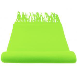Feiner TigerTie Designer Schal in grün neongrün leuchtgrün Uni - Cashmink