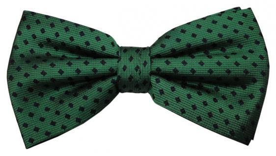 TigerTie Seidenfliege grün smaragdgrün blau gepunktet - Fliege Seide Silk