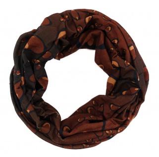 TigerTie Multifunktionstuch braun schwarz Wassertropfen Tuch Schal Schlauchtuch