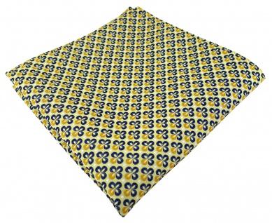 TigerTie Designer Einstecktuch in gelbgold silber marine gemustert