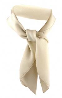 TigerTie Damen Chiffon Nickituch beige Gr. 50 cm x 50 cm - Tuch Halstuch Schal