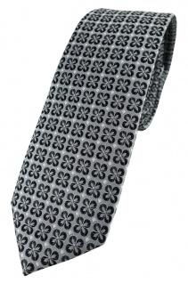 schmale TigerTie Designer Krawatte in anthrazit silber schwarz gemustert