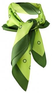 TigerTie Damen Satin Nickituch grün dunkelgrün silberweiss gemustert -100% Seide