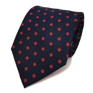 Designer Krawatte blau dunkelblau royal rot gemustert - Schlips Binder Tie