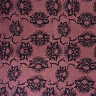 TigerTie Loop Schal in rosa schwarz mit Totenkopf Motiven - Größe 200 x 100 cm - Vorschau 2
