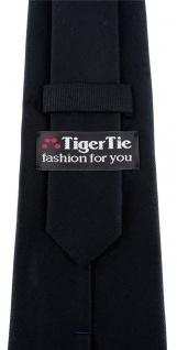 TigerTie Designer Krawatte schwarz Uni - 100% Baumwolle - Krawattenbreite 8 cm - Vorschau 3