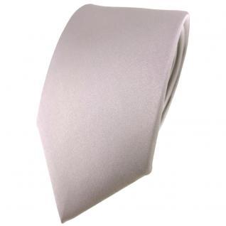 Modische TigerTie Satin Seidenkrawatte in grau silber einfarbig - Krawatte Seide