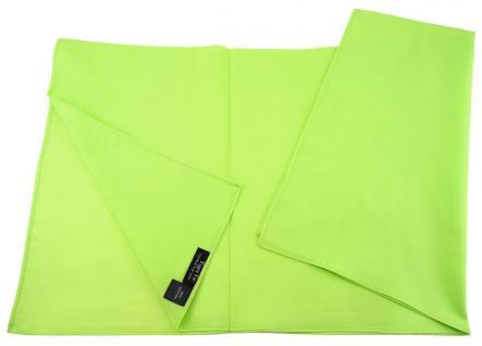 TigerTie Nickituch Halstuch leuchtgrün Uni - Größe 60 x 60 cm - 100% Baumwolle