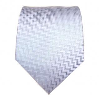 TigerTie Designer Krawatte hellblau blau silber gestreift - Schlips Binder Tie - Vorschau 3