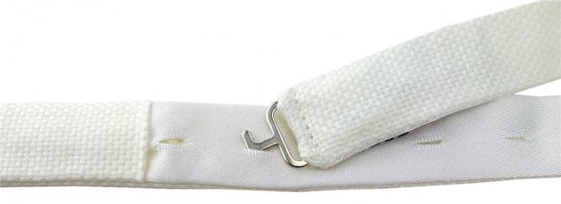 TigerTie Plastron Pique 2tlg Krawatte fertig gebunden in creme uni gemustert - Vorschau 3