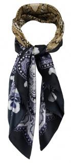 TigerTie Damen Nickituch Halstuch in gold violett silber dunkelbraun gemustert