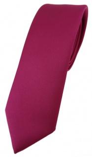 schmale TigerTie Designer Krawatte in pink einfarbig Uni - Tie Schlips