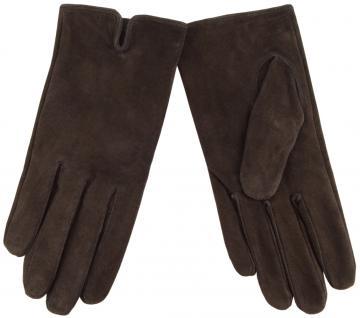 Damen Lederhandschuhe - hochwertiges weiches Schafsleder in dunkelbraun- Gr. 7, 5 - Vorschau 1