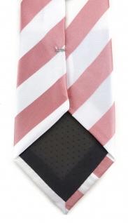 TigerTie Designer Krawatte in rosa weiss gestreift - Vorschau 4