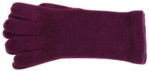 feine Strickhandschuhe in pflaume Uni - Damen Handschuhe Größe M - Vorschau 2