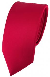 schmale feine TigerTie Seidenkrawatte in Satin rot - Krawatte 100% reine Seide