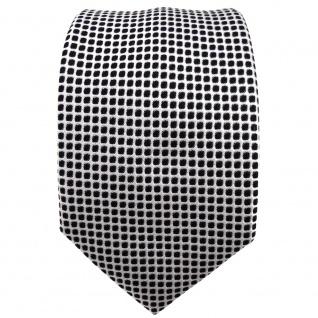 Enrico Sarto Seidenkrawatte schwarz silber gemustert - Krawatte Seide Tie - Vorschau 2