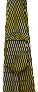 schmale TigerTie Designer Krawatte in gelb gold schwarz silber gemustert - Vorschau 3
