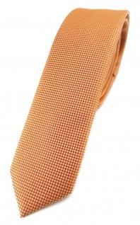 Modische schmale TigerTie Designer Krawatte in lachs fein gepunktet