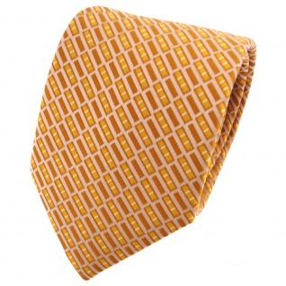 TigerTie Designer Krawatte goldgelb braunbeige gestreift - Tie Binder
