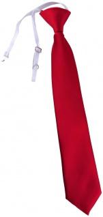 TigerTie Kinderkrawatte rot Uni - Krawatte vorgebunden mit Gummizug