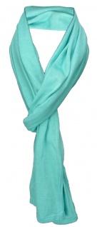 TigerTie Schal in mint türkis einfarbig - Schalgröße 180 x 40 cm