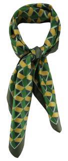 TigerTie Damen Nickituch Halstuch in grün olive gold silber gemustert