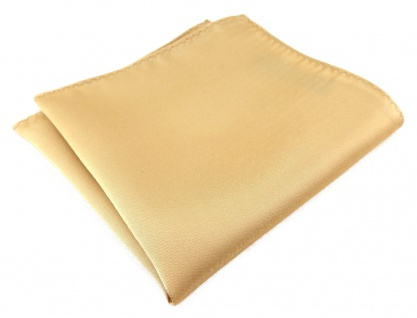 TigerTie Einstecktuch in hellgold einfarbig - Tuch 100% Polyester