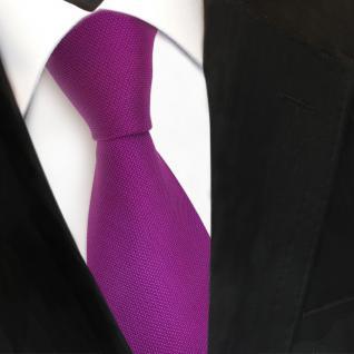 TigerTie Designer Seidenkrawatte lila violett purpur gepunktet - Krawatte Seide
