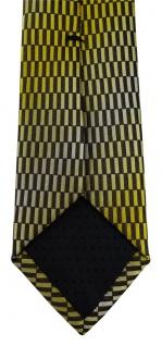 schmale TigerTie Designer Krawatte in gelb gold schwarz silber gemustert - Vorschau 4