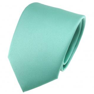 schöne TigerTie Satin Krawatte grün mint Uni - Schlips Binder Tie