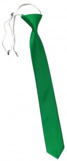 XXL TigerTie Security Sicherheits Krawatte in knallgrün leuchtgrün einfarbig Uni