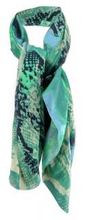 TigerTie Halstuch in türkis grün blau gemustert - Größe 100 x 100 cm