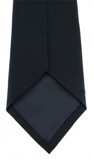 TigerTie Designer Krawatte schwarz Uni - 100% Baumwolle - Krawattenbreite 8 cm - Vorschau 4