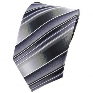 TigerTie Krawatte grau silber anthrazit hellgrau gestreift - Tie Binder