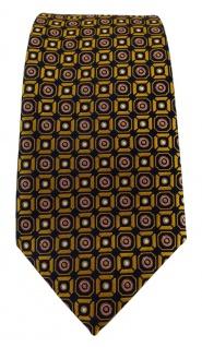 TigerTie Designer Krawatte in gold rosa silber schwarz gemustert - Vorschau 3