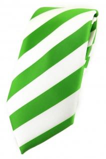 TigerTie Designer Krawatte in grasgrün weiss gestreift