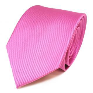 TigerTie Seidenkrawatte rosa pink erikaviolett Uni Rips - Krawatte Seide Binder