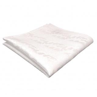schönes Einstecktuch weiß schneeweiß gemustert - Tuch Polyester