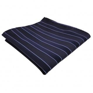schönes TigerTie Einstecktuch in blau dunkelblau gestreift - Tuch Polyester