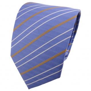 TigerTie Designer Krawatte blau bronze silber gestreift - Binder Tie Cravate