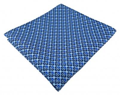 TigerTie Designer Einstecktuch in blau silber schwarz gemustert